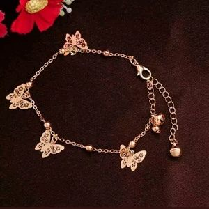 Dainty Butterfly Bracelet or Anklet Foot Chain